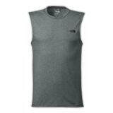 TNF Reaxion Amp S/L Tee Men's Grey Heather