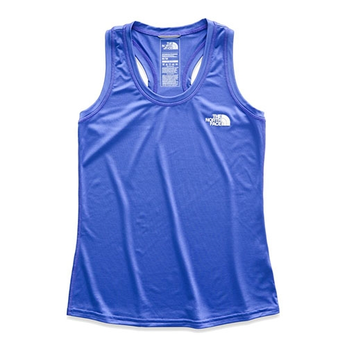 TNF Reaxion Amp Tank Women's Dazzling Blue/White - The North Face Style # NF0A3518.AL8 S19