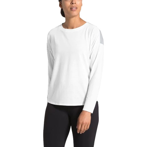 TNF Workout Novelty L/S Women's TNF White/TNF Grey