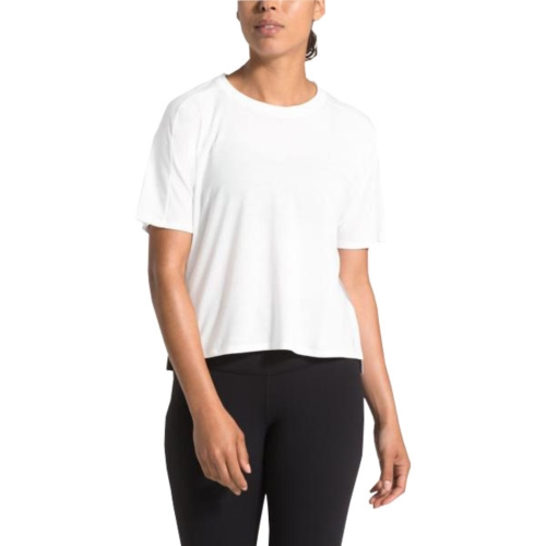 TNF Workout Novelty S/S Women's TNf White/TNF Grey