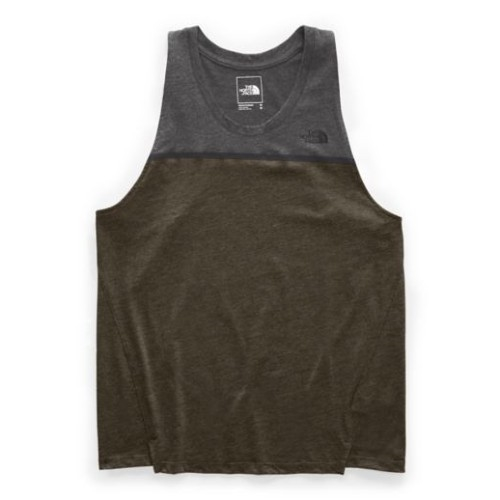TNF-Beyond-The-Wall-Tank Men's New Taupe Green Heather