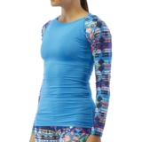 TYR Boca Chica LS Swim Shirt Women's Blue