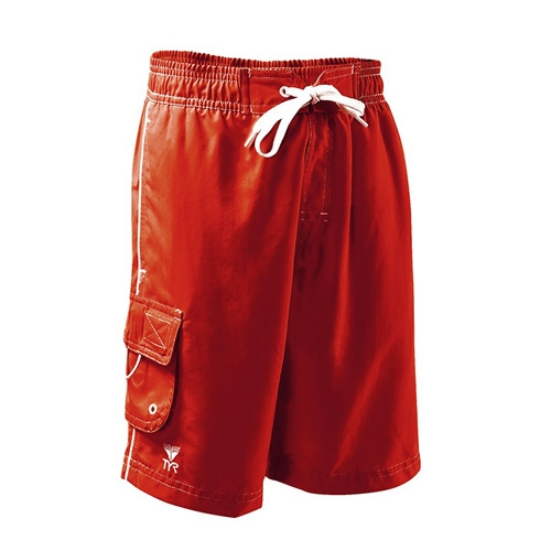 TYR Boys Challenger Boardshort Youth Red/White