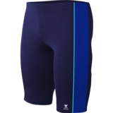 TYR Boys Splice Panel Jammer Youth Navy/Royal