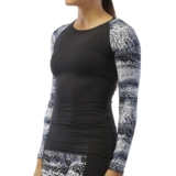 TYR Emerald Lake LS Swim Shirt Women's Black/Grey