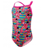 TYR Girls Lovebird Diamondfit Youth Pink/Multi
