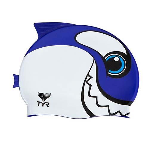 TYR Happy Whale Swim Cap Kids Purple