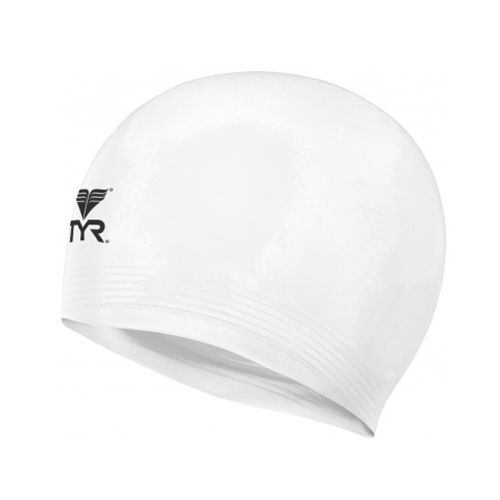 TYR Latex Swim Cap White