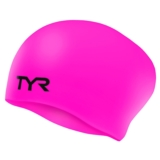 TYR LongHair Silicone Swim Cap Wrinkle Free - Pink