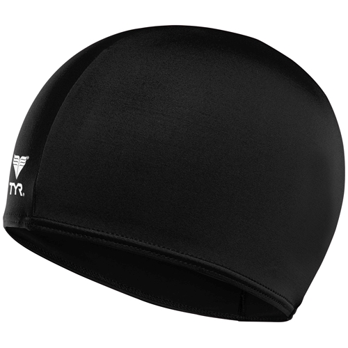 TYR Lycra Youth Swim Cap Black