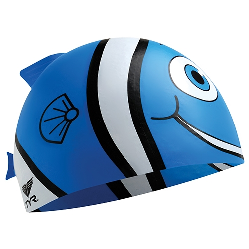 TYR Silicone Happy Fish Cap Blue