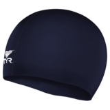 TYR Silicone Junior Racer Cap Navy
