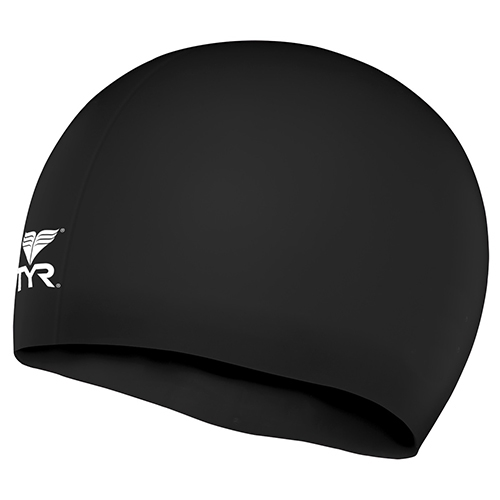 TYR Silicone Junior Racer Cap Black