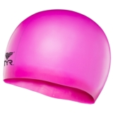 TYR Silicone Junior Racer Cap Flourescent Pink