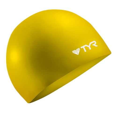 TYR Silicone Swim Cap Wrinkle Free - Yellow