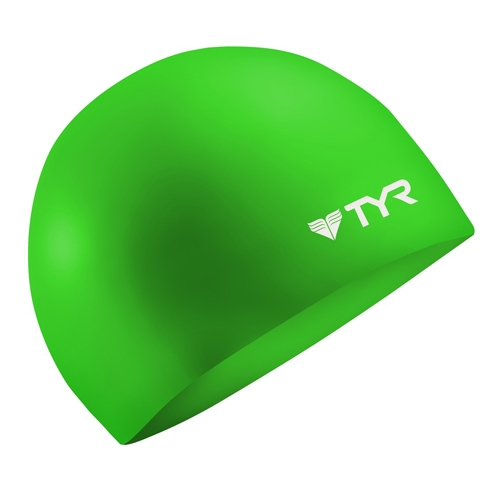 TYR Silicone Swim Caps Wrinkle Free - Green