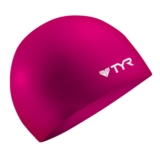 TYR Silicone Swim Caps Wrinkle Free - Pink