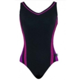 TYR Solids V-Neck Clip Back Women's Black/Uv/Pink/Game