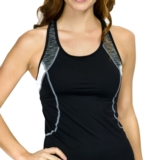 TYR Sonoma Tankini Top w/ Bra Women's Black