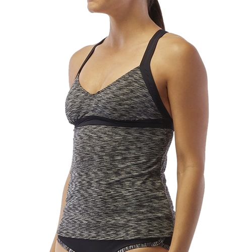 TYR Sonoma V-Neck Open Back Women's Black