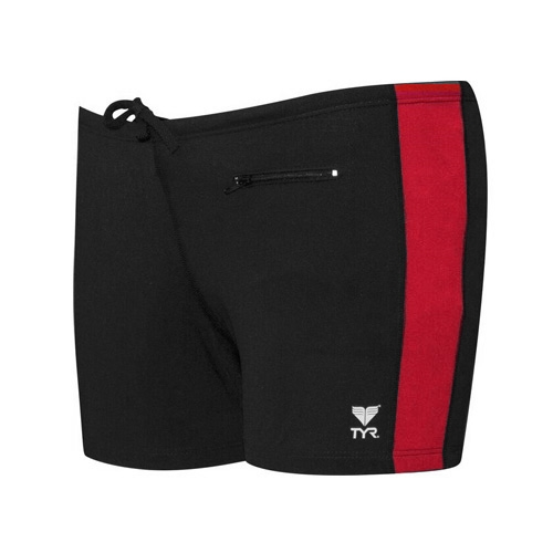 TYR Square Leg W/Zip Pocket Men's Black/Red