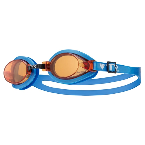 TYR Youth Qualifier Kids Goggles Amber