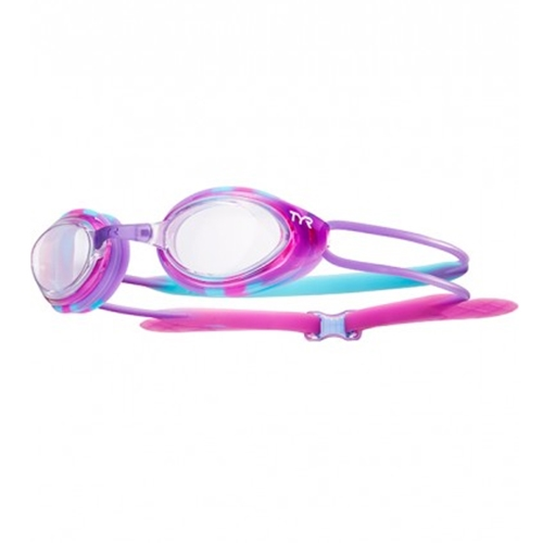 Tyr Blackhawk Racing Junior Kid's Clear/Pink/Purple