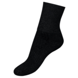 VeBa Diabetic Socks - Crew Men's Black Socks