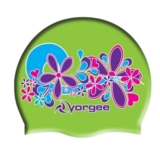 Vorgee Miss Glamour Cap Lime Green Flowers