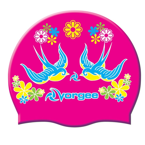 Vorgee Miss Glamour Cap Hot Pink Birds