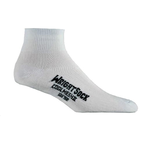 Wrightsock Coolmesh II 1/4 Unisex White Double Layer Sock