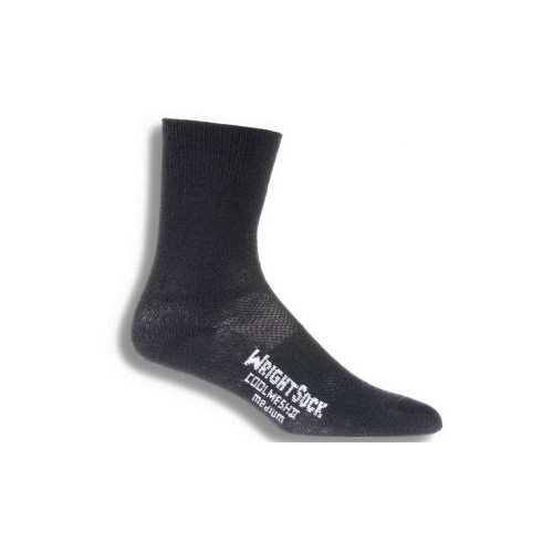 Wrightsock DL Coolmesh II Crew Unisex Black Double Layer Sock