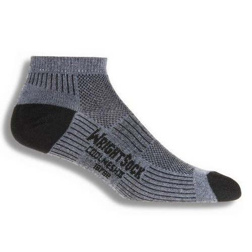 Wrightsock DL Coolmesh II Lo Unisex Grey Double Layer Sock