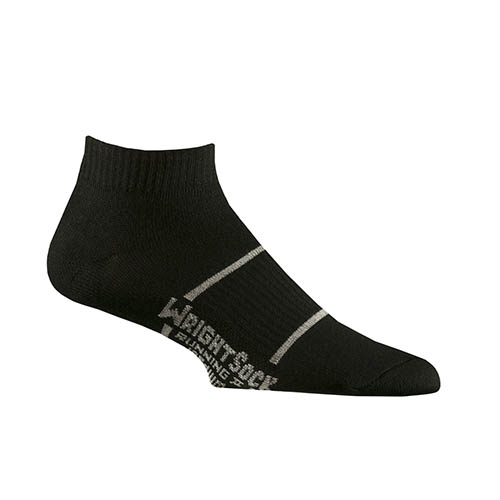 Wrightsock DL Running II Lo Unisex Black Double Layer Sock - WrightSock Style # 864 BLK S19