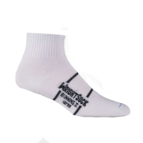 Wrightsock Running II 1/4 Unisex White Double Layer Sock