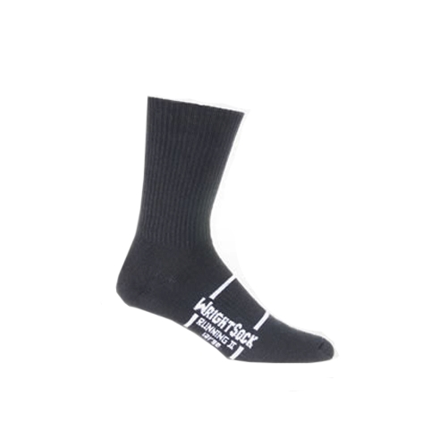 Wrightsock-Running-II-Crew Unisex Black Double Layer Sock