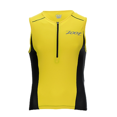 Zoot Active Tri Mesh Tank Men's Pure Yellow/Black