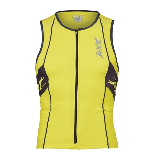 Zoot Performance Tri Full Zip Men's Yellow/Pewter